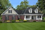 Southern Style House Plan - 3 Beds 2 Baths 1635 Sq/Ft Plan #21-277 Exterior - Front Elevation