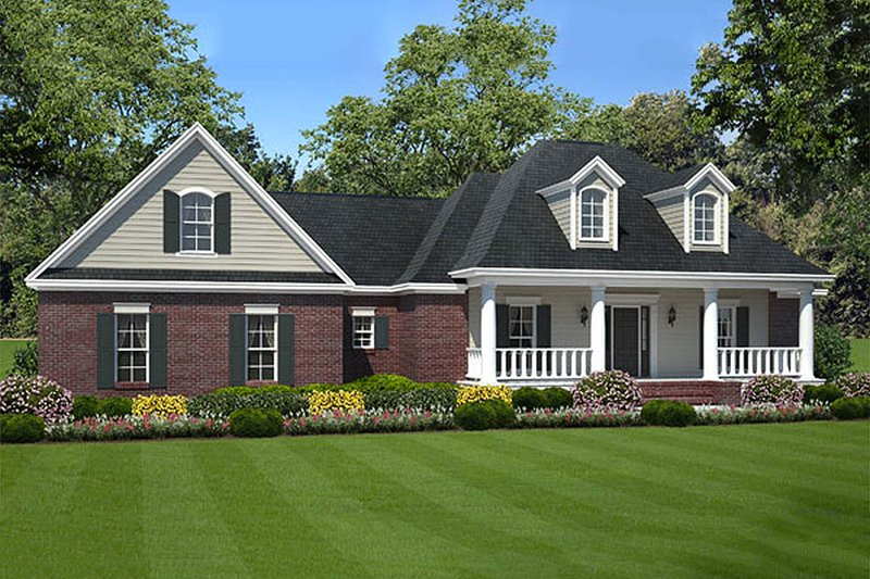 Southern Exterior - Front Elevation Plan #21-277 - Houseplans.com