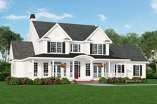 Dream House Plan - Farmhouse Exterior - Front Elevation Plan #929-297