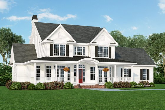 Architectural House Design - Farmhouse Exterior - Front Elevation Plan #929-297