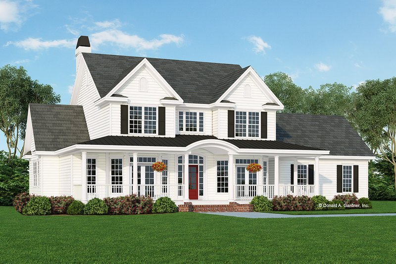 Farmhouse Style House Plan - 4 Beds 2.5 Baths 2506 Sq/Ft Plan #929-297