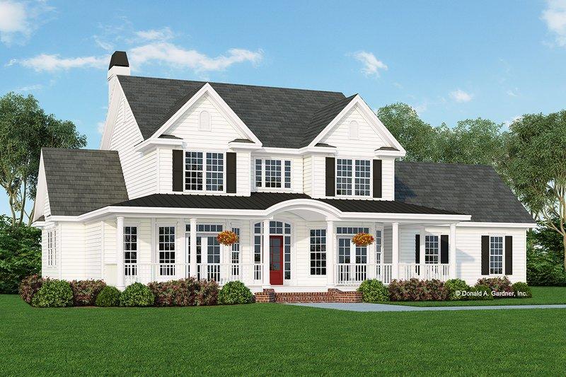 Home Plan - Farmhouse Exterior - Front Elevation Plan #929-297