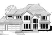 Modern Style House Plan - 4 Beds 4 Baths 3145 Sq/Ft Plan #67-158 Exterior - Front Elevation
