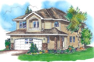 Traditional Exterior - Front Elevation Plan #18-4254