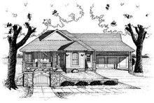 Cottage Exterior - Front Elevation Plan #20-416
