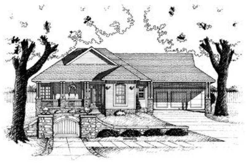 Cottage Exterior - Front Elevation Plan #20-416