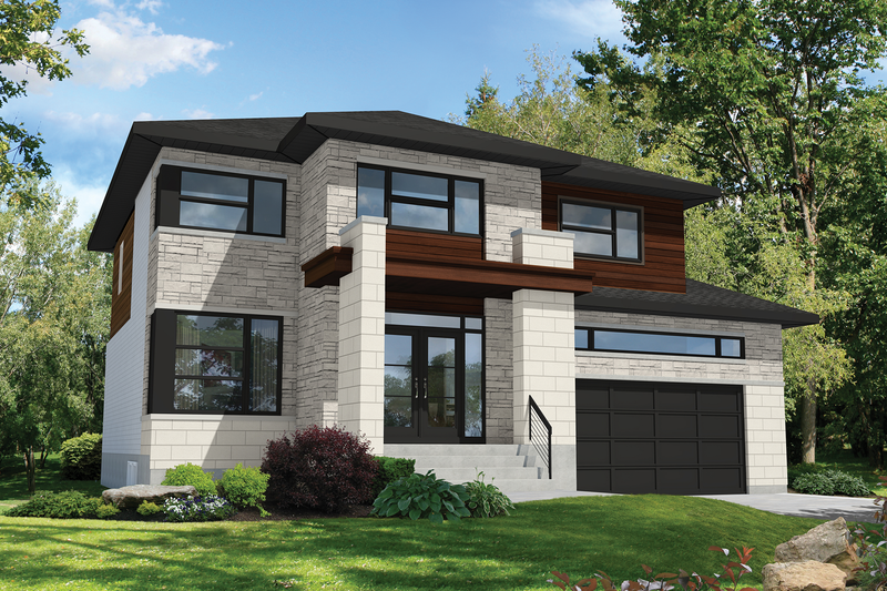 Architectural House Design - Contemporary Exterior - Front Elevation Plan #25-4907