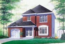 House Plan Design - European Exterior - Front Elevation Plan #23-279