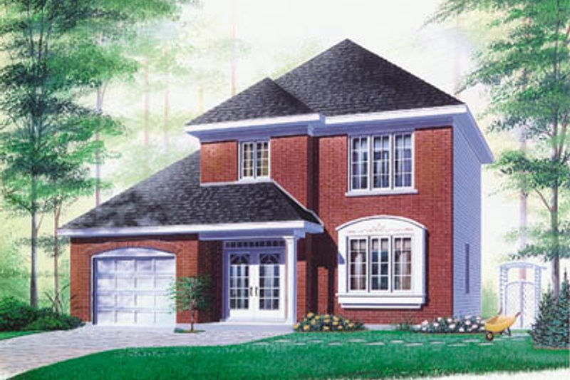 European Exterior - Front Elevation Plan #23-279
