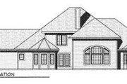 European Style House Plan - 3 Beds 2.5 Baths 3608 Sq/Ft Plan #70-531 Exterior - Rear Elevation