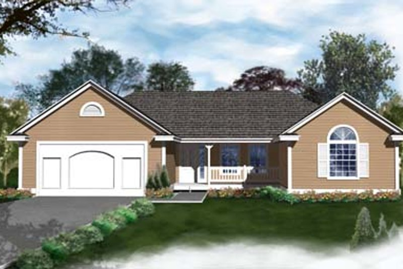 Traditional Exterior - Front Elevation Plan #93-102 - Houseplans.com