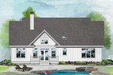 Dream House Plan - Farmhouse Exterior - Rear Elevation Plan #929-1106
