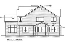 House Design - Traditional Exterior - Rear Elevation Plan #100-212