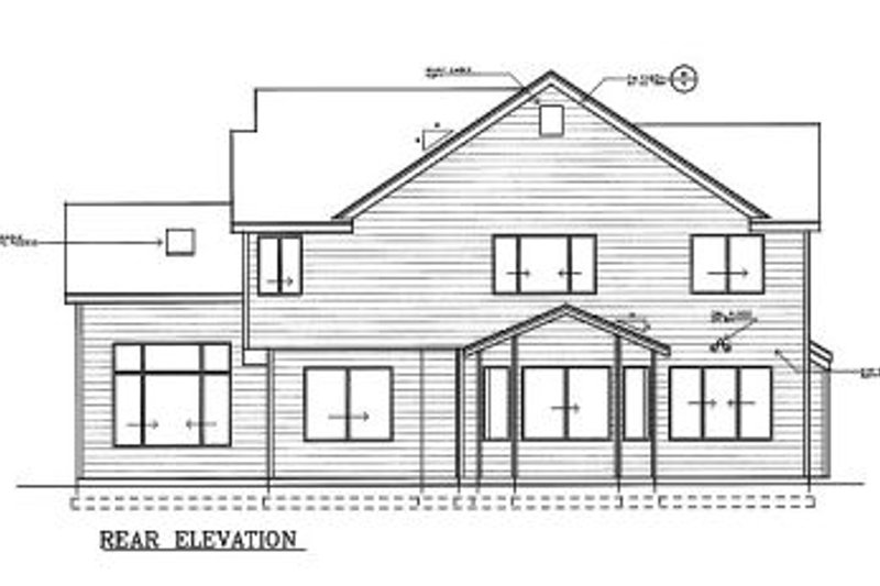 Traditional Exterior - Rear Elevation Plan #100-212 - Houseplans.com