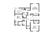 Contemporary Style House Plan - 3 Beds 2.5 Baths 2448 Sq/Ft Plan #48-987 Floor Plan - Upper Floor Plan