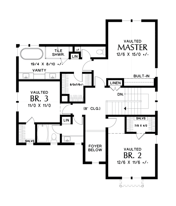Dream House Plan - Contemporary Floor Plan - Upper Floor Plan #48-987