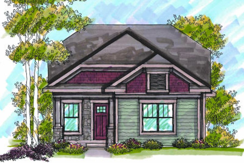 Bungalow Exterior - Front Elevation Plan #70-963