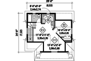Traditional Style House Plan - 0 Beds 0 Baths 528 Sq/Ft Plan #25-4755 Floor Plan - Upper Floor Plan