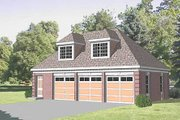 Traditional Style House Plan - 1 Beds 1 Baths 432 Sq/Ft Plan #116-128 Exterior - Front Elevation