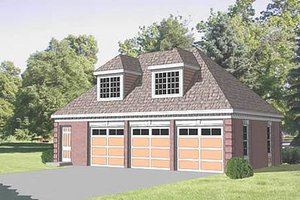 Traditional Exterior - Front Elevation Plan #116-128