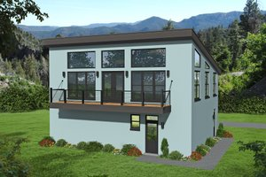 Contemporary Exterior - Front Elevation Plan #932-149