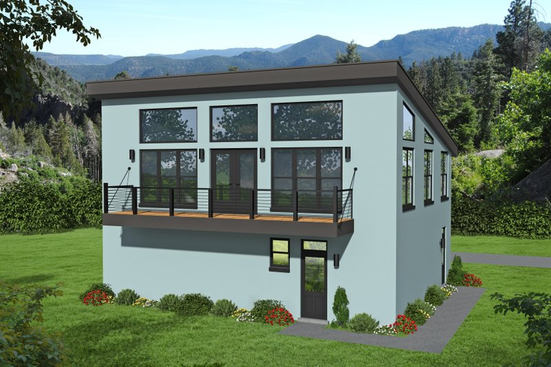 Contemporary Style House Plan - 1 Beds 1.5 Baths 1200 Sq/Ft Plan #932-149