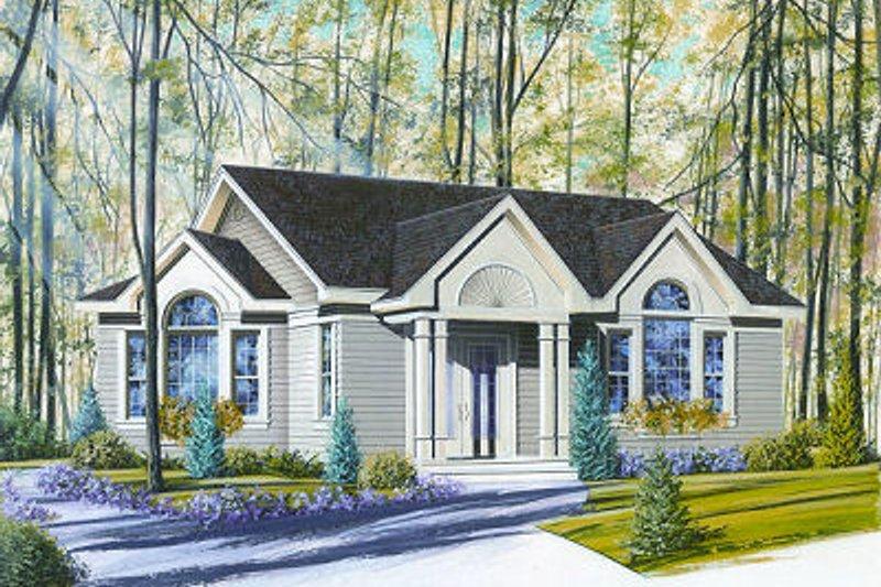 Exterior - Front Elevation Plan #23-684 - Houseplans.com