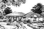 European Style House Plan - 4 Beds 3 Baths 3440 Sq/Ft Plan #417-384 Exterior - Front Elevation