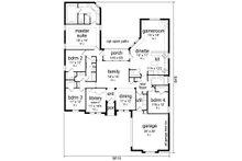 European Floor Plan - Main Floor Plan Plan #84-595