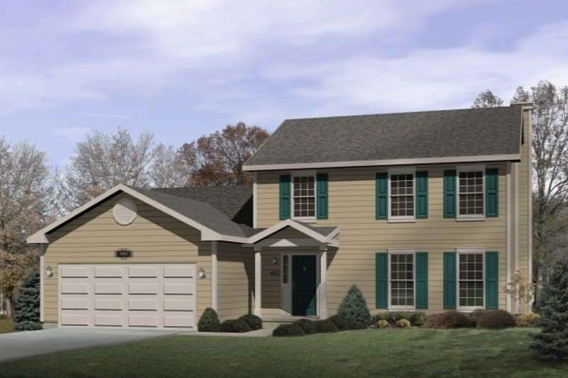 Architectural House Design - Traditional Exterior - Front Elevation Plan #22-205