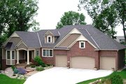 European Style House Plan - 3 Beds 3 Baths 4726 Sq/Ft Plan #320-501 Exterior - Front Elevation