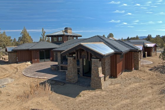 Prairie style home design, elevation