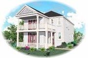 Southern Style House Plan - 4 Beds 2.5 Baths 1802 Sq/Ft Plan #81-115