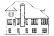 Country Style House Plan - 3 Beds 2.5 Baths 2180 Sq/Ft Plan #927-625 Exterior - Rear Elevation