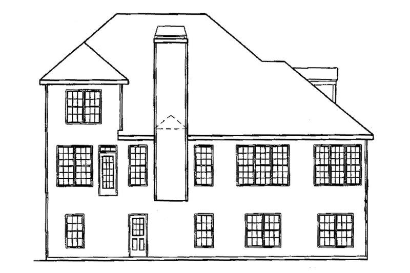 Country Exterior - Rear Elevation Plan #927-625 - Houseplans.com