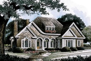 Traditional Exterior - Front Elevation Plan #429-23