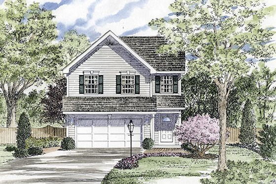 Country Exterior - Front Elevation Plan #316-125