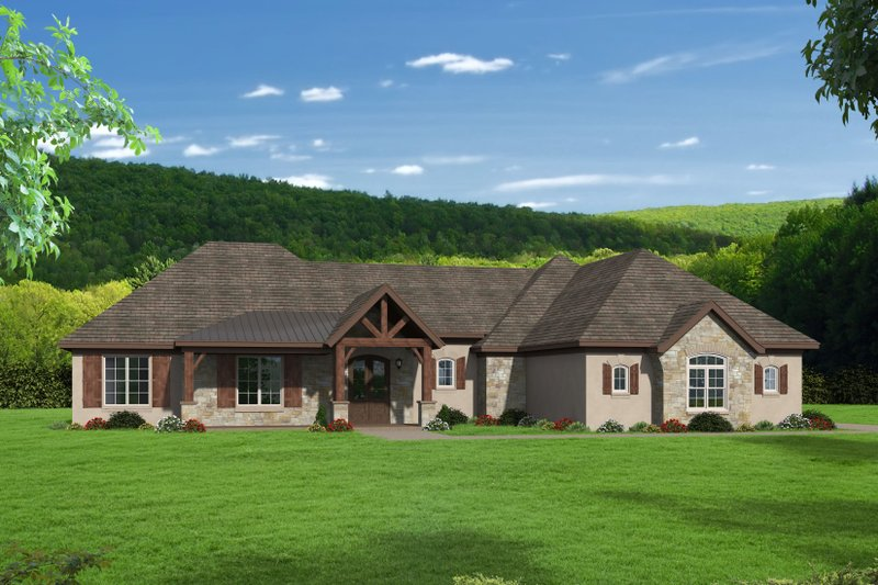 House Plan Design - Traditional Exterior - Front Elevation Plan #932-167