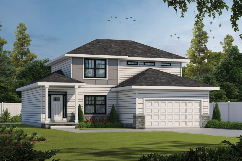 Dream House Plan - Contemporary Exterior - Front Elevation Plan #20-2430