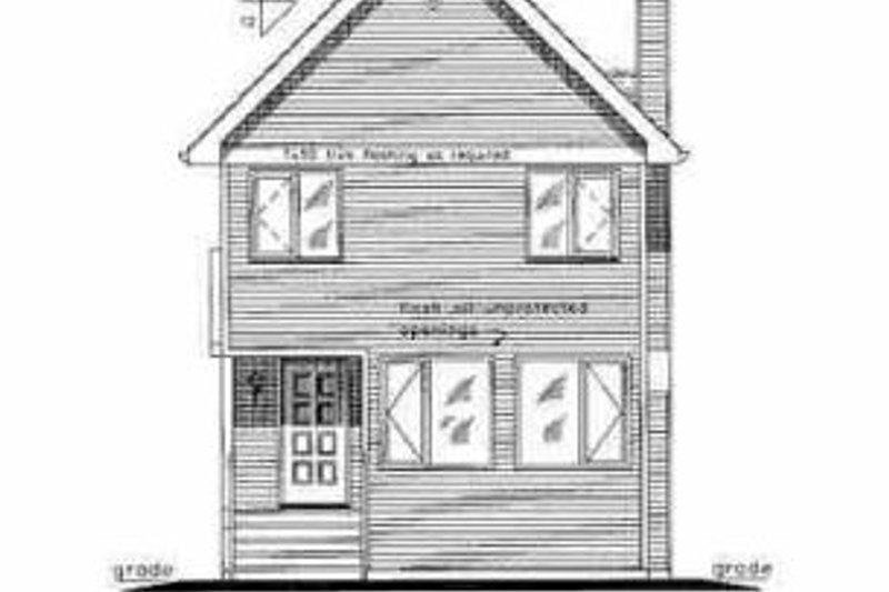 Cottage Exterior - Rear Elevation Plan #18-292 - Houseplans.com