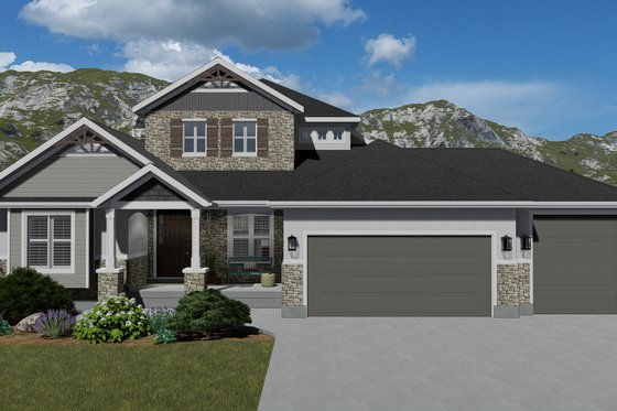 Traditional Exterior - Front Elevation Plan #1060-69