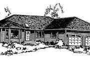 Traditional Style House Plan - 3 Beds 2 Baths 1668 Sq/Ft Plan #18-104 Exterior - Front Elevation