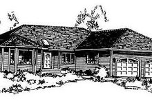 House Blueprint - Traditional Exterior - Front Elevation Plan #18-104