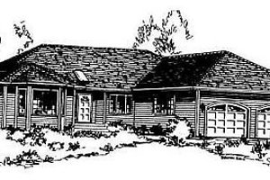Traditional Exterior - Front Elevation Plan #18-104