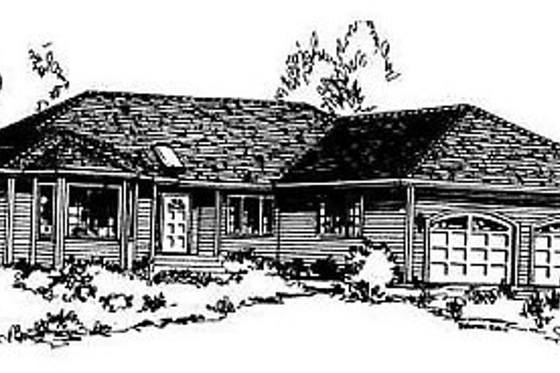 Traditional Exterior - Front Elevation Plan #18-104 - Houseplans.com