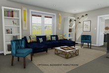 Architectural House Design - Optional Basement Family Room