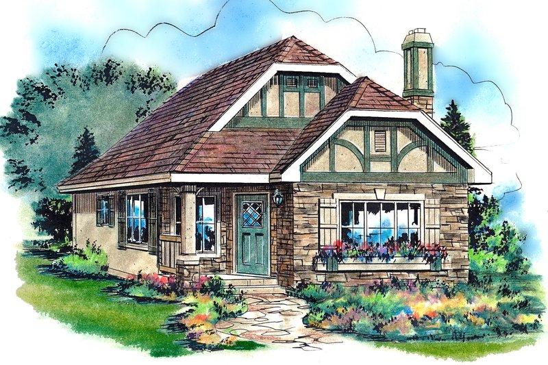 House Plan Design - Tudor Exterior - Front Elevation Plan #18-1045