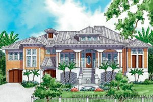 Country Exterior - Front Elevation Plan #930-173