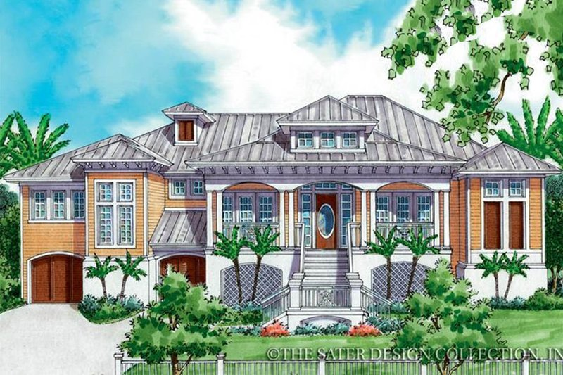 Architectural House Design - Country Exterior - Front Elevation Plan #930-173