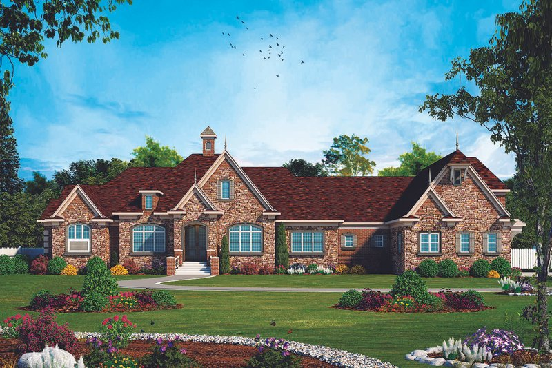 Dream House Plan - European Exterior - Front Elevation Plan #20-2333